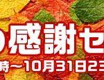 秋のセール開始します!