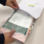 サンプル送付の封筒をリニューアルしました