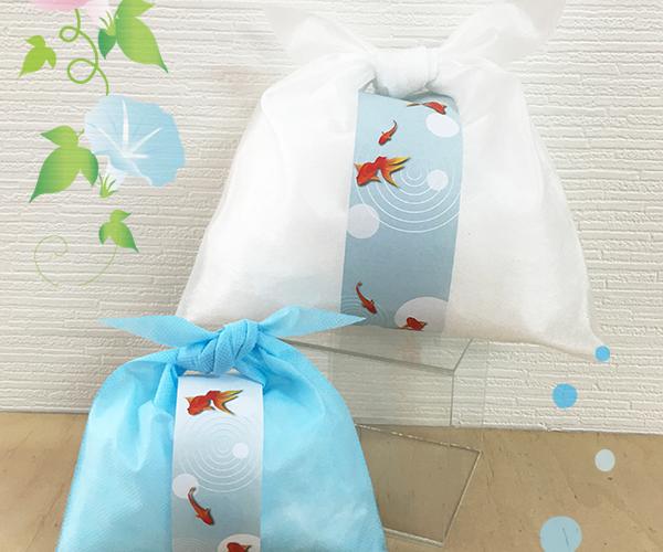 和菓子 前掛け 帯 ディスプレイ 夏 金魚 涼菓
