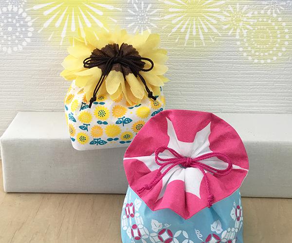 ラッピング 花の日 花 夏の花 あさがお ひまわり 洋菓子 和菓子