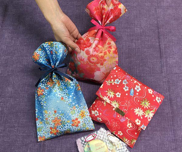 ちりめん 印刷 不織布 平袋 和菓子 洋菓子 小物 土産 ラッピング