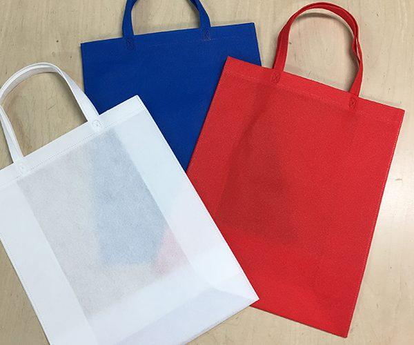 色 選ぶ トートバッグ 不織布 イベント 展示会 アパレル ショッピングバッグ