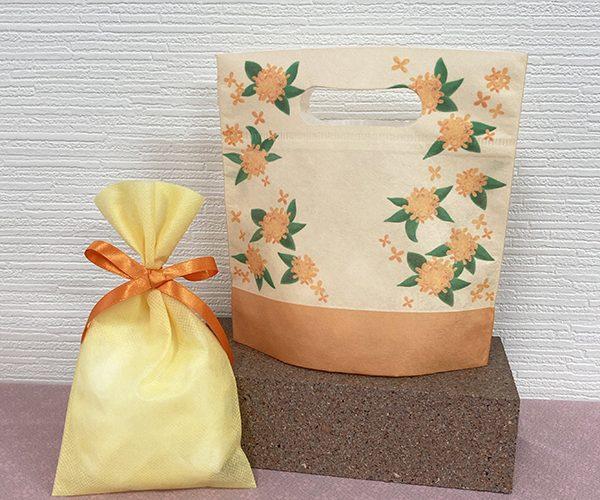 金木犀 花柄 かわいい 黄色 オレンジ 秋 オータム