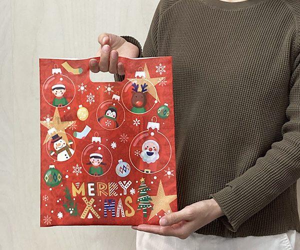 クリスマスラッピング 袋 小判抜き 子供会 配布バッグ