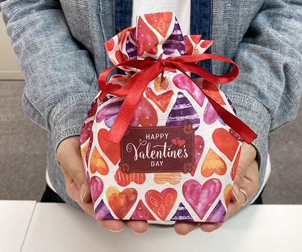 バレンタイン ラッピング かわいい 友チョコ 簡単ラッピング