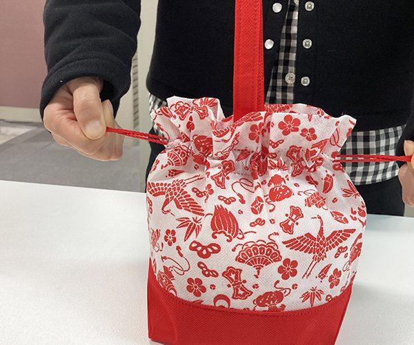 巾着 お祝い 宝ずくし 吉祥 餅 新年 年賀 簡単ラッピング