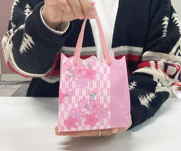 桜 ラッピング 春のラッピング 和菓子 おもたせ 矢絣 合格 卒入学