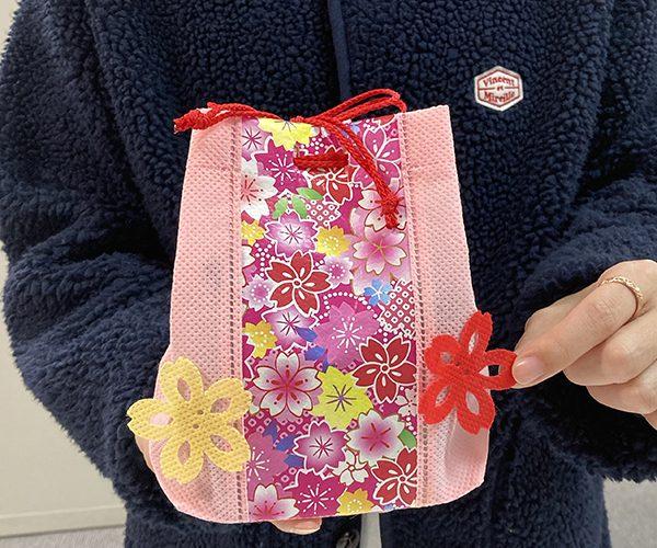 ラッピング 桜 春 セール 簡単ラッピング 信玄袋 洋菓子 和菓子