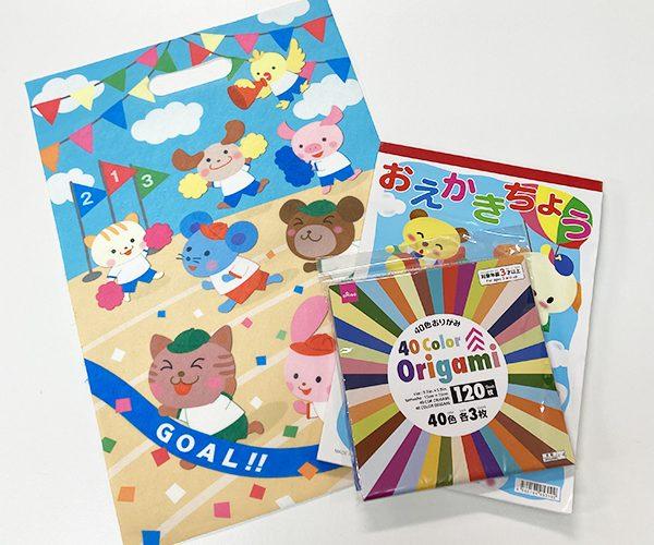 ラッピング 運動会 小学校 幼稚園 保育園 かわいい動物 文具 タオル お菓子