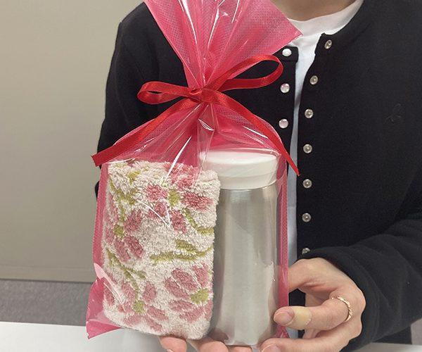 ラッピング クリア 平袋 リボン お茶 雑貨 洋菓子 和菓子 母の日 マイボトル ハンドタオル ピンク