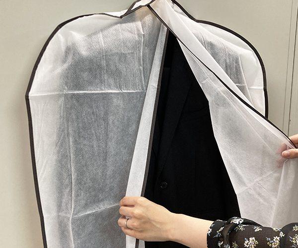 洋服カバー かぶせ 簡単 収納 アパレル 衣替え スーツ ジャケット コート