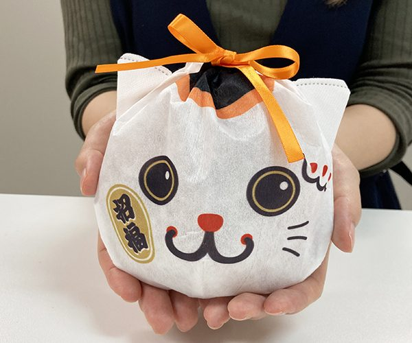 ラッピング まねき猫 秋 和菓子 米菓 ねこ