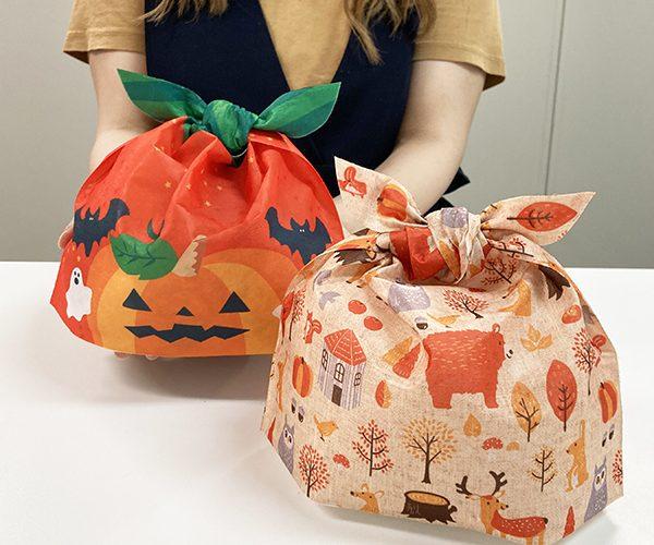 ハロウィン ラッピング ジャックオランタン ふろしき風 洋菓子 和菓子