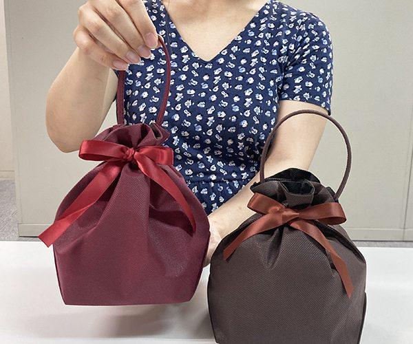 ラッピング 秋 ボルドー ブラウン 洋菓子 和菓子 リボン 簡単ラッピング 可愛い おしゃれ