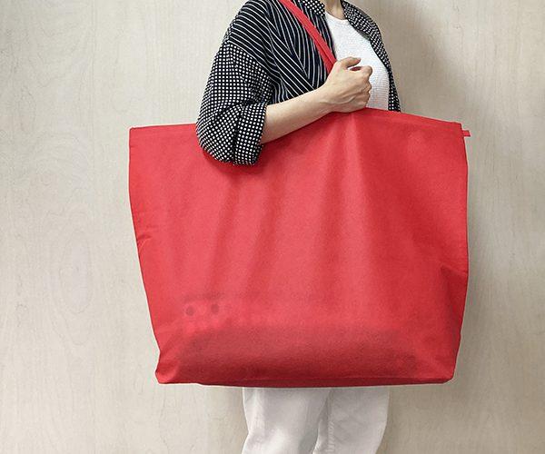セール セールバッグ 不織布トートバッグ ファスナー付きバッグ