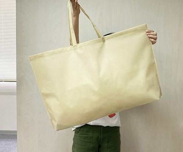 特大サイズの不織布バッグは小ロットで