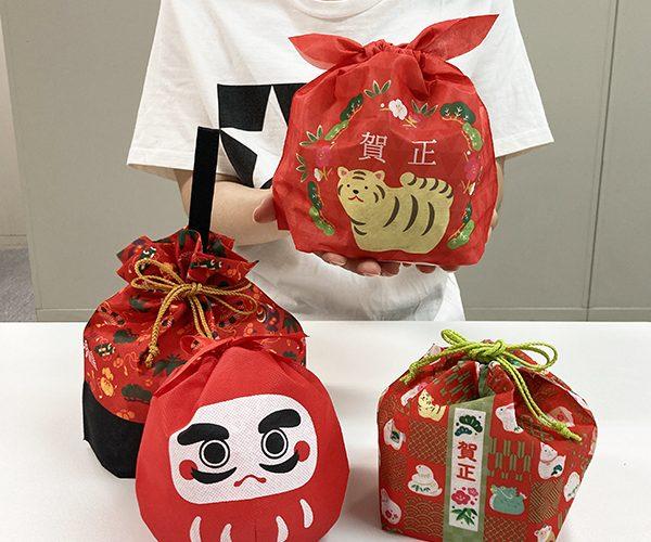 ラッピング まとめ買い 新年 お年賀 寅年 お祝い 干支 だるま 和菓子 洋菓子 簡単ラッピング