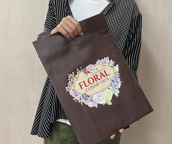 不織布バッグ フルカラー 印刷 展示会 自治体 イベント