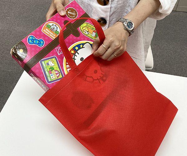 不織布バッグ おもちゃ 七五三 お祝い クリスマス 子供服 入学 入園 孫