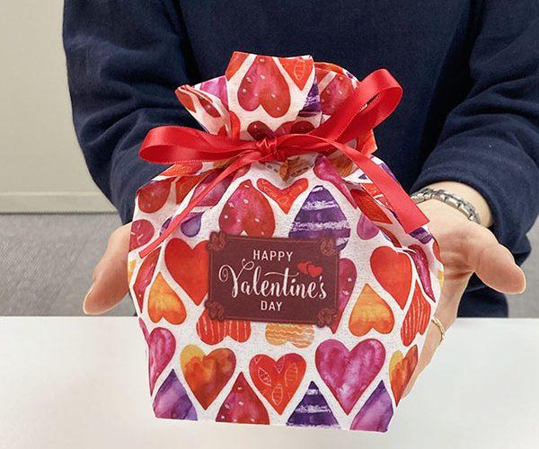 バレンタイン チョコレート 洋菓子 ラッピング 簡単ラッピング ハート柄 メッセージ 和菓子